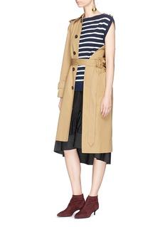 3.1 Phillip Lim 'Sailor' two-in-one stripe cardigan peplum dress