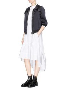 3.1 Phillip Lim Tiered trapunto stitch hem poplin dress