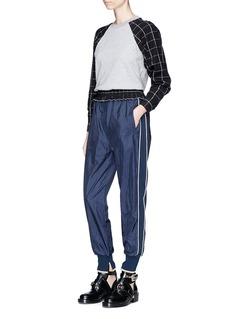 3.1 Phillip Lim Plaid cotton terry sweatshirt