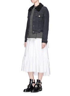 3.1 Phillip Lim Tie side stripe cotton T-shirt