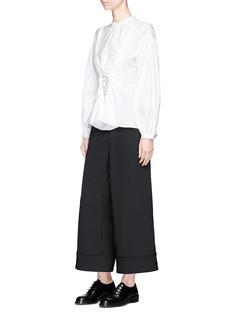 3.1 Phillip Lim Corset detail suiting culottes