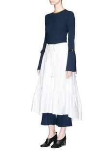 3.1 Phillip Lim Victorian waist cotton poplin skirt