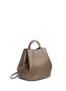 Marni 'Pannier' ring handle leather crossbody handbag
