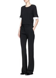 VICTORIA, VICTORIA BECKHAM Tiered pleated cuff top
