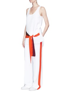 VICTORIA, VICTORIA BECKHAM Contrast outseam relaxed tuxedo pants