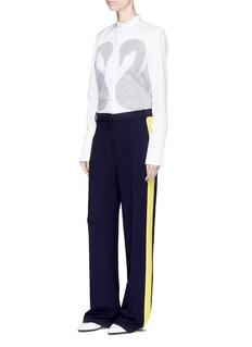 VICTORIA, VICTORIA BECKHAMColourblock stripe crepe tux pants