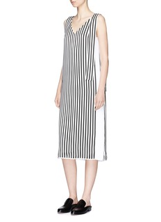 VICTORIA, VICTORIA BECKHAM Shoulder sash V-neck shift dress