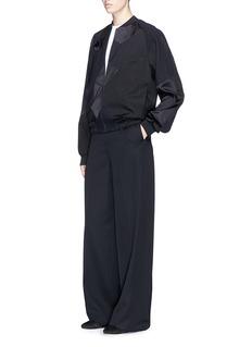 VICTORIA, VICTORIA BECKHAM Swan patchwork bomber jacket