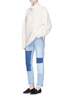 VICTORIA, VICTORIA BECKHAM Funnel neck wool ottoman knit sweater