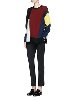 VICTORIA, VICTORIA BECKHAMColourblock Merino wool sweater