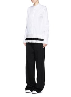 VICTORIA, VICTORIA BECKHAM Tiered pleated hem shirt