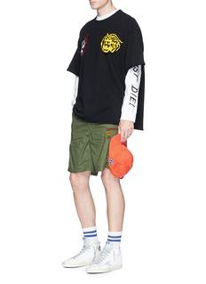 FACETASMStripe rib knit trim cargo shorts