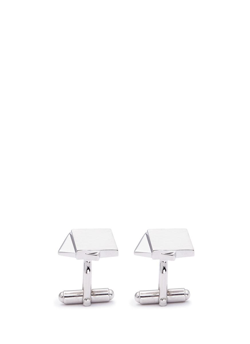 lanvin male double square cufflinks