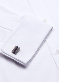 Lanvin Sodalite rectangle cufflinks