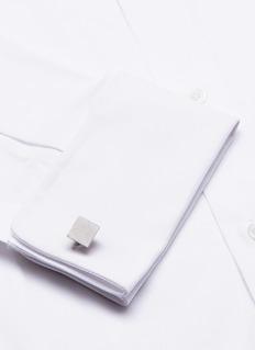 Lanvin Brushed geometric cufflinks