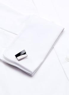 LanvinOnyx geometric cufflinks