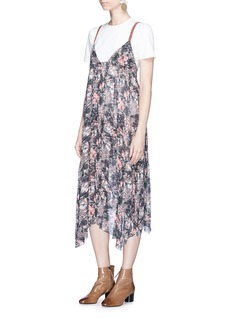 Isabel Marant Étoile'Joany' floral print asymmetric hem crepe slip dress