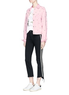 Isabel Marant Étoile'Foften' stud embellished denim jacket