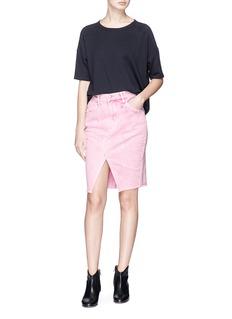 Isabel Marant Étoile 'Fadow' rework effect denim skirt