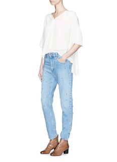 Isabel Marant Étoile 'Wyle' throatlatch ruched yoke crepe top