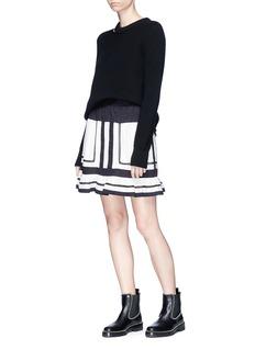 ISABEL MARANT ÉTOILE Rhoda镂空条纹纯棉半裙