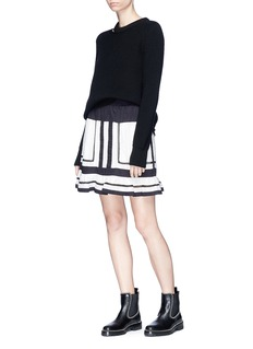 Isabel Marant Étoile 'Rhoda' colourblock gauze peplum skirt