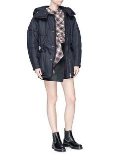 Isabel Marant Étoile 'Bulle' detachable hood cocoon sleeve oversized puffer jacket