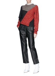 Isabel Marant Étoile 'Arty' asymmetric colourblock mixed knit sweater