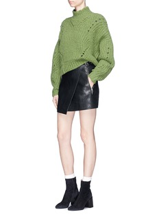 Isabel Marant Étoile 'Kakili' buckled bubble leather wrap skirt