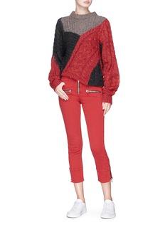 Isabel Marant Étoile 'Pelona' biker zip cuff cropped skinny denim pants