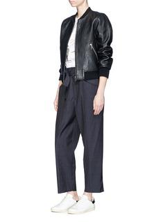 Isabel Marant Étoile 'Nagano' belted check plaid suiting pants