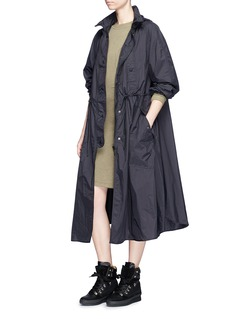 Isabel Marant Étoile 'Copal' hooded waterproof long windbreaker coat