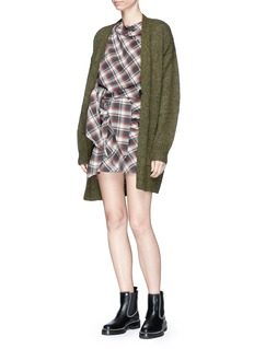 Isabel Marant Étoile 'Placid' tie waist check plaid flannel mini skirt