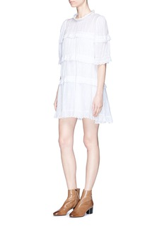 Isabel Marant Étoile 'Lyin' tiered embroidered cotton dress