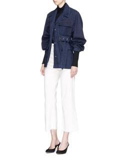 Isabel Marant 'Pleyal' belted oversized denim jacket