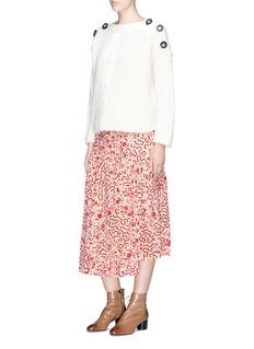 Isabel Marant 'Grifol' floral print silk wrap skirt