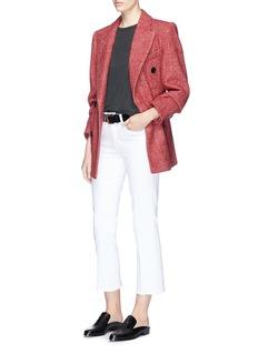 Isabel Marant 'Eley' double breasted herringbone-effect melton coat