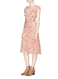 Isabel Marant 'Glory' floral print silk swing dress