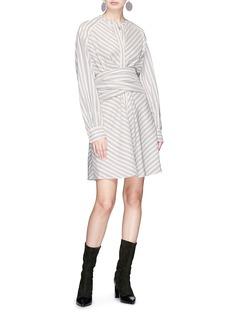 Isabel Marant Corset belt stripe flared dress