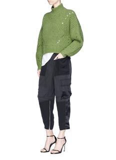 Isabel Marant 'Farrah' oversized openwork knit turtleneck sweater