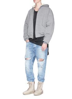 Fear of God Faux fur lined zip hoodie