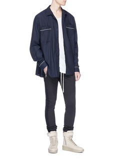 Fear of God Contrast piping oversized twill shirt