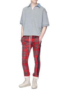 Fear of God Tartan plaid wool twill track pants