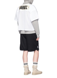Fear of God 'Manuel' appliqué mesh football T-shirt
