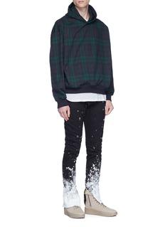 Fear of God Tartan plaid oversized hoodie