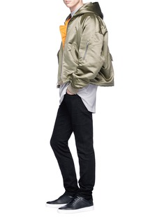Fear of God Hooded satin bomber jacket