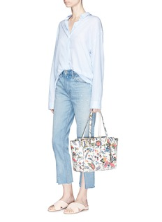 Tory Burch 'Parker' small Gabriella Floral print leather tote
