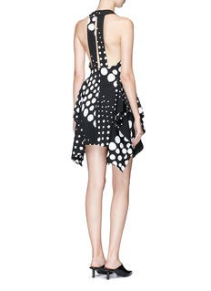 C/Meo Collective  'Enlighten' tiered ruffle dot print suiting mini dress