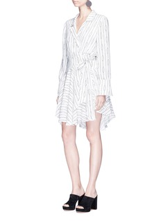 C/Meo Collective  'Everlasting' oval stripe print crepe wrap dress