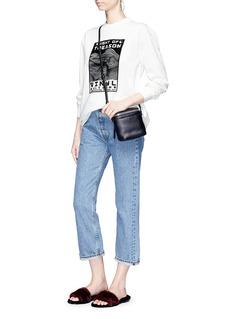 Kara 'Stowaway' leather crossbody bag